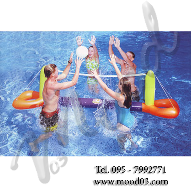 Splash volleyball set gonfiabile da piscina preassemblato for Palla gonfiabile per piscina