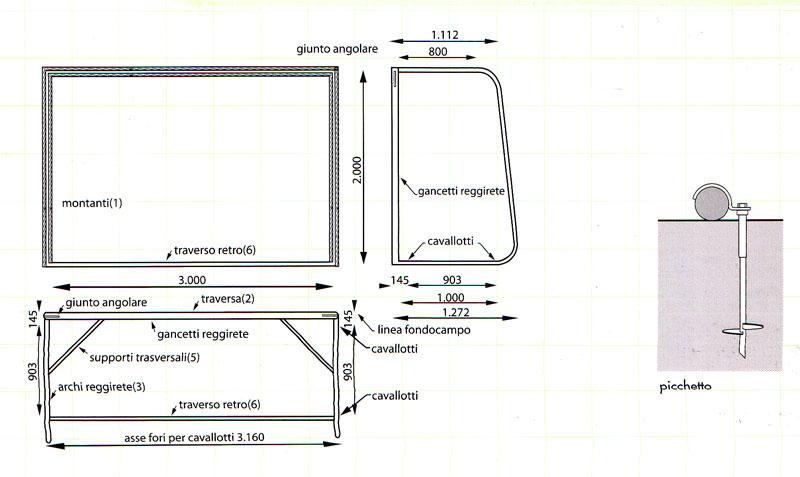 Porta calcio giardino spiaggia pvc dimensioni cm - Dimensioni della porta da calcio ...