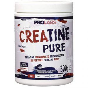 CREATINE PURE Barattolo da 300 g - Integratore a base di creatina monoidrato micronizzata in polvere pura al 100%