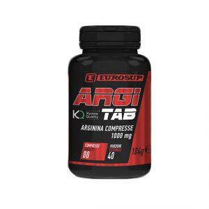 Argi Tab - Arginina Compresse -  Barattolo con 80 cpr da 1000 mg - Integratore di L-Arginine KYOWA®