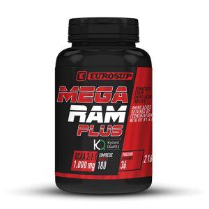 MEGA RAM PLUS Barattolo da 180 cpr - 1 GRAMMO DI AMINOACIDI RAMIFICATI KYOWA PER TAVOLETTA con Vitamine B1 e B6