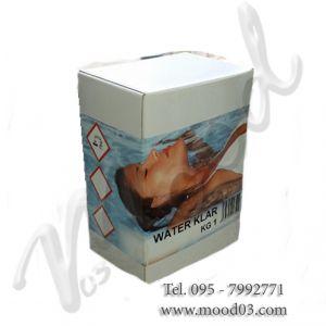 WATER KLAR 1 KG Scatola (Confezione 8 Cartucce da 125 Grammi) - Flocculante di elevata qualità ad alta concentrazione