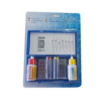 SWIMMING POOL TEST KIT - Analizzatore a gocce per controllare il livello di PH, BROMO e CLORO dell' acqua