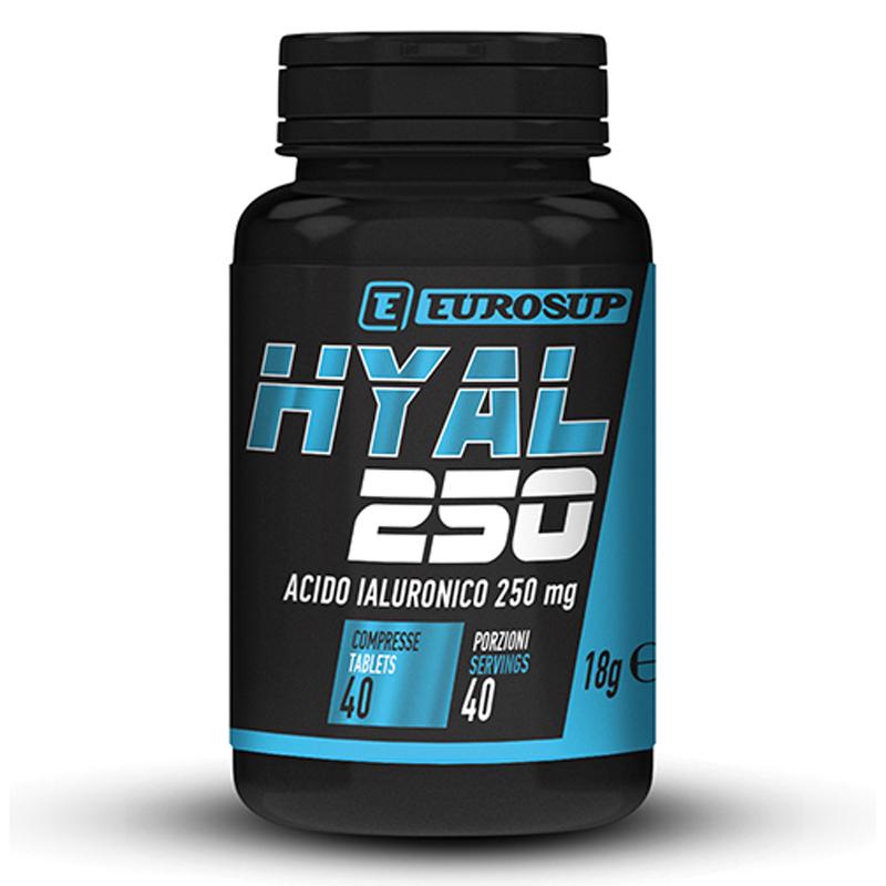 HYAL 250 EUROSUP Flacone 40 cpr - Integratore in compresse da 250 mg di Acido Ialuronico HyaMax®
