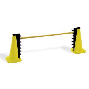 OSTACOLO PVC GRADUABILE Altezza regolabile su 7 posizioni (da 10 a 40 cm) - Il set comprende 2 coni, 2 ritti, 1 asta