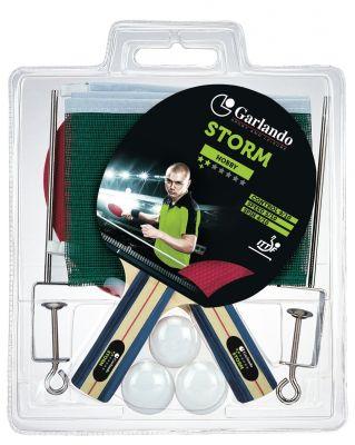 Garlando Set da Ping Pong Storm Plus con 2 racchette qualità 3 stelle approvata ITTF, 3 palline, rete e tendirete