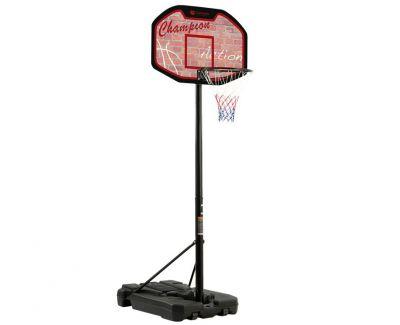 SAN JOSE Tabellone Basket con base riempibile - Altezza Regolabile 225-305 cm - Con ruote di Trasporto