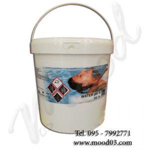 WATER PH- Granulare in SECCHIO da 15 kg - Prodotto a base di solfato acido di sodio per la RIDUZIONE del Ph dell' acqua