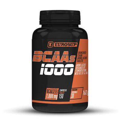 BCAAS 1000 Barattolo da 150 cpr - Integratore alimentare a base di aminoacidi ramificati (BCAA 2:1:1) e vitamine B