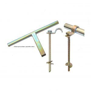 PICCHETTI PORTE CALCETTO TRASPORTABILI in acciaio zincato a caldo - Kit per 2 porte
