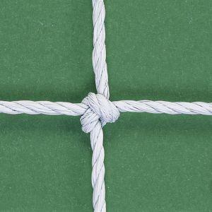 COPPIA di RETI CALCIO ANNODATE 732x244 CM Regolamentari in corda HDPE da 2,8 mm contro raggi UV - Misura Rete 742x250 cm