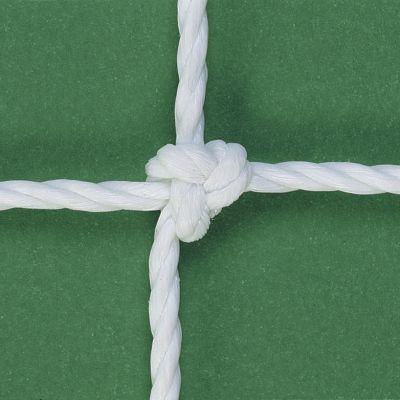 COPPIA di RETI CALCIO ANNODATE 7.32X2.44 MT in corda HDPE da 3,8 mm - per porte regolamentari. A norma EN 748 classe  A