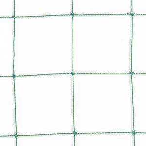 RETE PROTEZIONE ANNODATA 100 colore Verde - Parapalloni in maglie da 100x100mm. Il prezzo si riferisce al metro quadrato