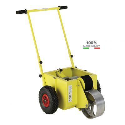 CARRELLO SEGNACAMPO A RULLO per tracciature con vernice ecologica - Capacità Serbatoio 17 lt. TRASPORTO GRATUITO