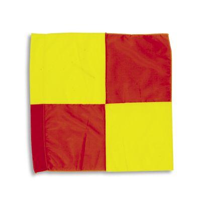 DRAPPO DI RICAMBIO PER BANDIERINE DA GUARDALINEE Dimensioni 45x45 cm - Colore a scacchiera Giallo Rosso