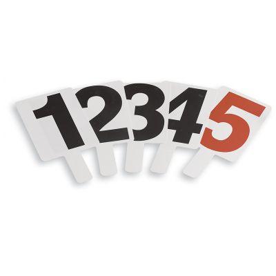 PALETTE SEGNAFALLI PVC numerate 1-5 sui due lati - 5 PEZZI