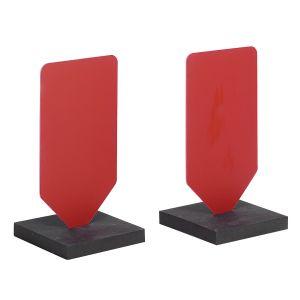 COPPIA DI PALETTE PVC con BASE colore ROSSO - Dimensioni cm 38x20x0,3