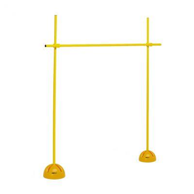 OSTACOLO TUBO PVC - Diametro 25 mm - Altezza 160 cm. 2 basi riempibili, 3 ate e 2 clips regolazione altezza incluse
