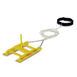 SLITTA PER POTENZIAMENTO CORSA con cintura regolabile a velcro - Migliora la capacità di accelerazione