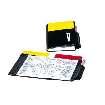 """LIBRETTO ARBITRO PROFESSIONAL Modello """"EUROPA"""" - Taccuino completo di cartellini giallo, rosso e matita"""