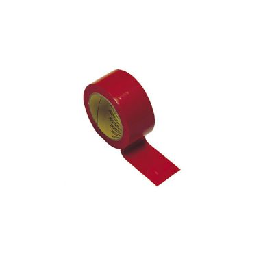 NASTRO ADESIVO PVC SEGNACAMPO colore ROSSO - Rotolo da 33 mt - Utile per segnare i campi di gioco - Uso interno