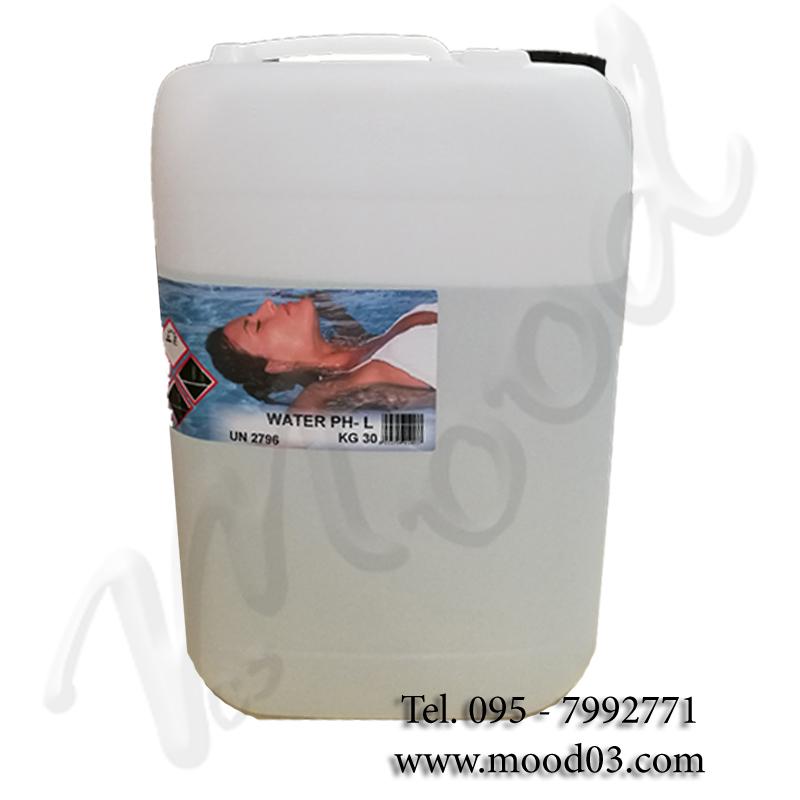 WATER PH- LIQUIDO Tanica da 30 kg - Acido liquido incolore per la riduzione del pH *VENDITA PROIBITA AI PRIVATI
