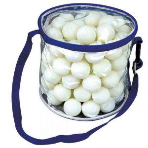 Garlando Confezione 100 palline da ping pong mod. Meteor, qualità 1 stella, con sacca di trasporto