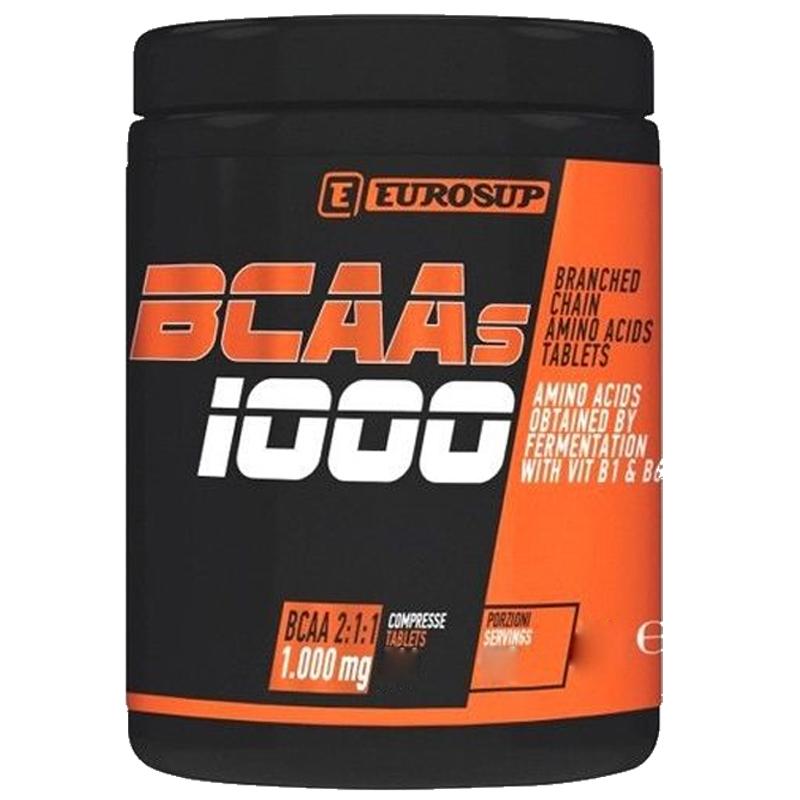 BCAAS 1000 Barattolo da 300 cpr - Integratore alimentare a base di aminoacidi ramificati (BCAA 2:1:1) e vitamine B