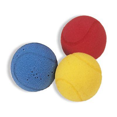 Set di 3 PALLINE IN SPUGNA colorate - Diametro 7 cm