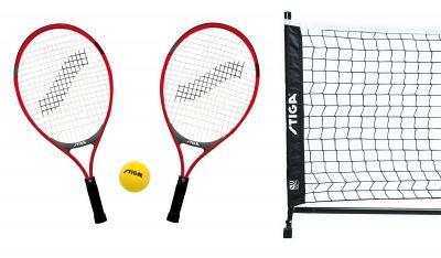 STIGA MINITENNIS SET SG-60 - Set da Tennis per Bambini con 2 Racchette, 1 Pallina ed 1 Rete con Tendirete