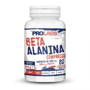 BETA ALANINA Flacone da 80 cpr - Integratore alimentare di Beta-Alanina, precursore naturale del dipeptide carnosina