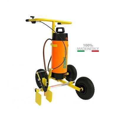 Carrello Segnacampo a Spruzzo Manuale 100% Made in Italy - Ideale per Tracciature a Spruzzo con Vernice Ecologica