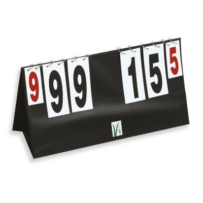 SEGNAPUNTI DA TAVOLO VOLLEY a schede in pvc con anelli - Numerazione da 0 a 999