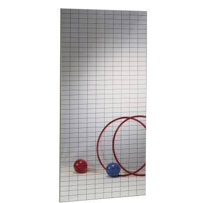 SPECCHIO DANZA MODULARE QUADRETTATO A PARETE ANTINFORTUNISTICO Dimensioni cm 200x100x2,5 - Certificazione EN356