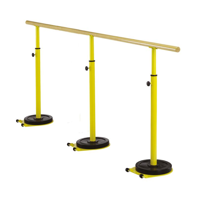 SBARRA DANZA TRASPORTABILE in legno - Lunghezza 4 mt - Altezza Regolabile 80/120 cm. TRASPORTO GRATUITO