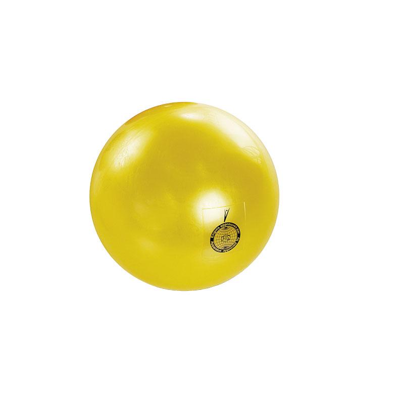 PALLA RITMICA OMOLOGATA FIG DA 420 GR rigonfiabile colore GIALLA - Diametro 19 cm