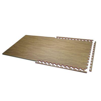 TAPPETO INCASTRO PARQUET BICOLORE in EVA + 3 Bordi dritti - Dimensioni 100x100x1,3 cm - Pavimentazione a norma UNI EN 71