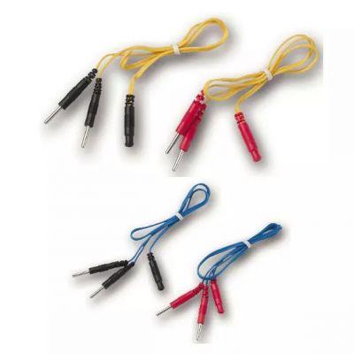 SET 4 SDOPPIATORI (2 blu + 2 gialli) attacco spinotto femmina + maschio 2mm, per modelli MIO CARE