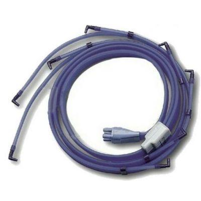 CONNETTORE a 6 tubi con 12 terminazioni per terapia simultanea gambe/braccia
