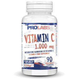 VITAMIN C Flacone da 90 cpr da 1000 mg - Integratore di vitamina C per una sferzata di energia (metabolismo energetico)