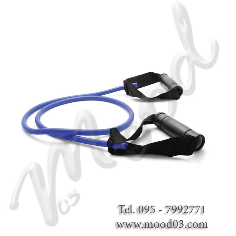 ELASTICO TUBOLARE DA  140 CM CON MANIGLIE SOFT A RESISTENZA MEDIA ideale per tonificazione, riabilitazione e stretching