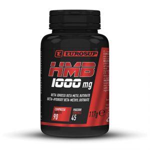 Eurosup HMB 1000 mg Barattolo 90 cpr - Integratore alimentare di Beta Idrossi Beta Metil Butirato - Adatto ai Vegani