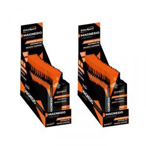 Box da 40 Buste da 25 ml di MAGNESIO LIQUIDO GLUTEN FREE - Double Power. Contrasta Affaticamento e Stanchezza