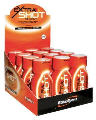 ETHICSPORT BOX DA 12 FLACONI DI EXTRA SHOT DA 60 ml, CONTRIBUISCE ALLA RIDUZIONE DI STANCHEZZA ED AFFATICAMENTO.