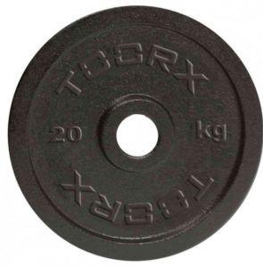 Disco in ghisa nera da 20 kg. Foro 25 mm adatto a bilancieri e manubri con misure diametro standard italiano da 25mm