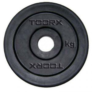 DISCO IN GHISA GOMMATA 5 KG Foro 25-26 mm - Foro standard italiano per bilancieri e manubri in acciaio cromato