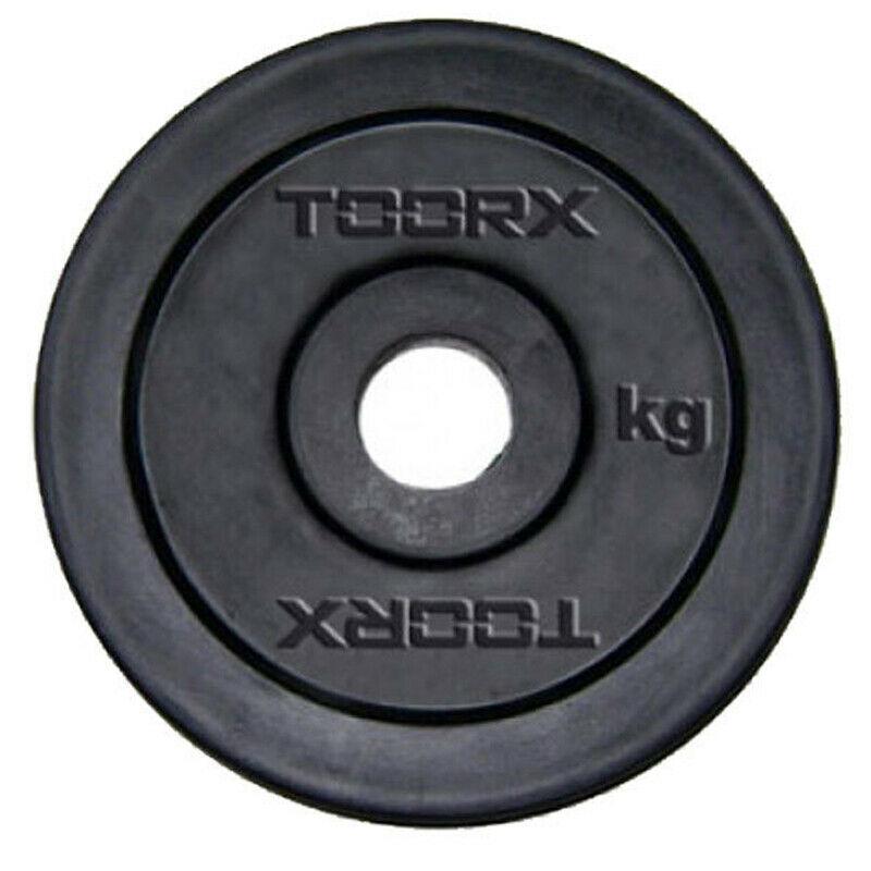 Disco in ghisa gommata da 10 kg. Foro 25 mm adatto a bilancieri e manubri con misure diametro standard italiano da 25mm