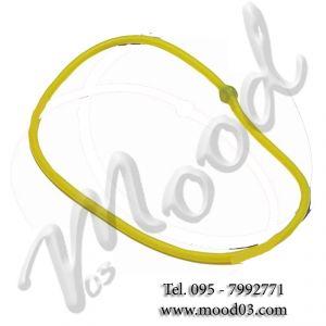 Elastico tubing ad anello resistenza media colore giallo - Ideale per Aerobica Yoga Pilates Stretching Riabilitazione