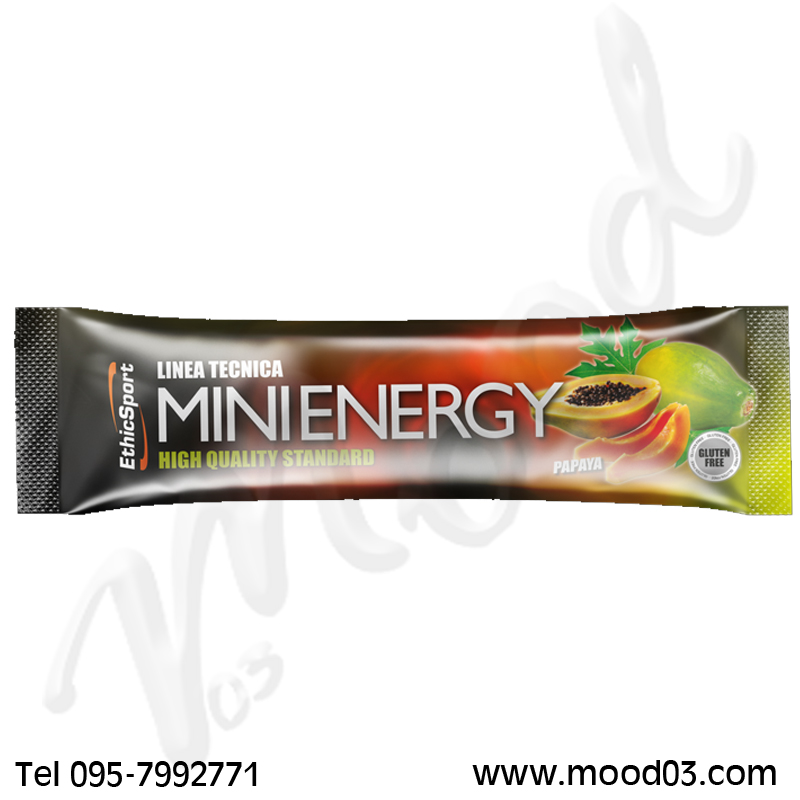 MINI ENERGY ETHICSPORT GUSTO PAPAYA 20 GRAMMI - Mini Barretta per un apporto energetico immediato e duraturo