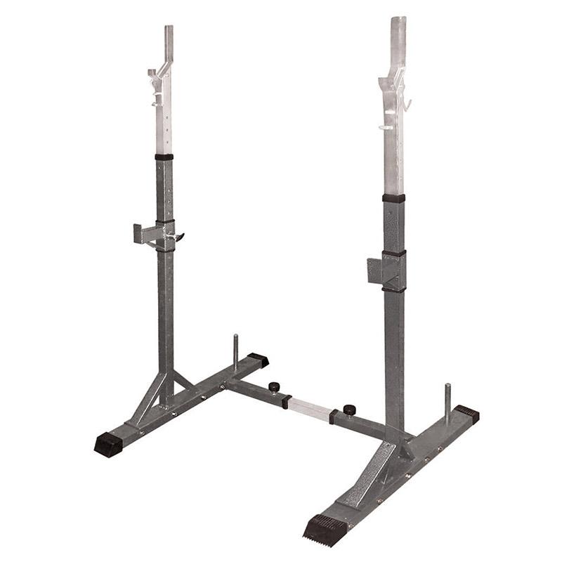 Toorx Wbx-50 - Supporti per Bilanciere o Squat Stand Professionale con Porta-Dischi - Altezza e Larghezza regolabili